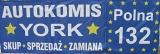 """Logo F.H.U Jarosław Urbański Auto-Komis """"YORK"""""""
