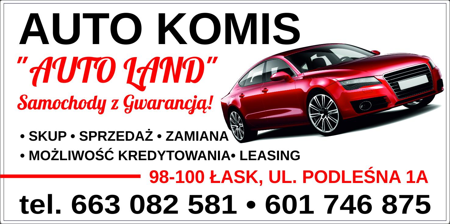 """Logo AUTO KOMIS """"AUTO LAND"""""""