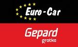 Logo Euro-Car Gepard. Sprzedaż, wynajem, transport samochodów i przyczep.