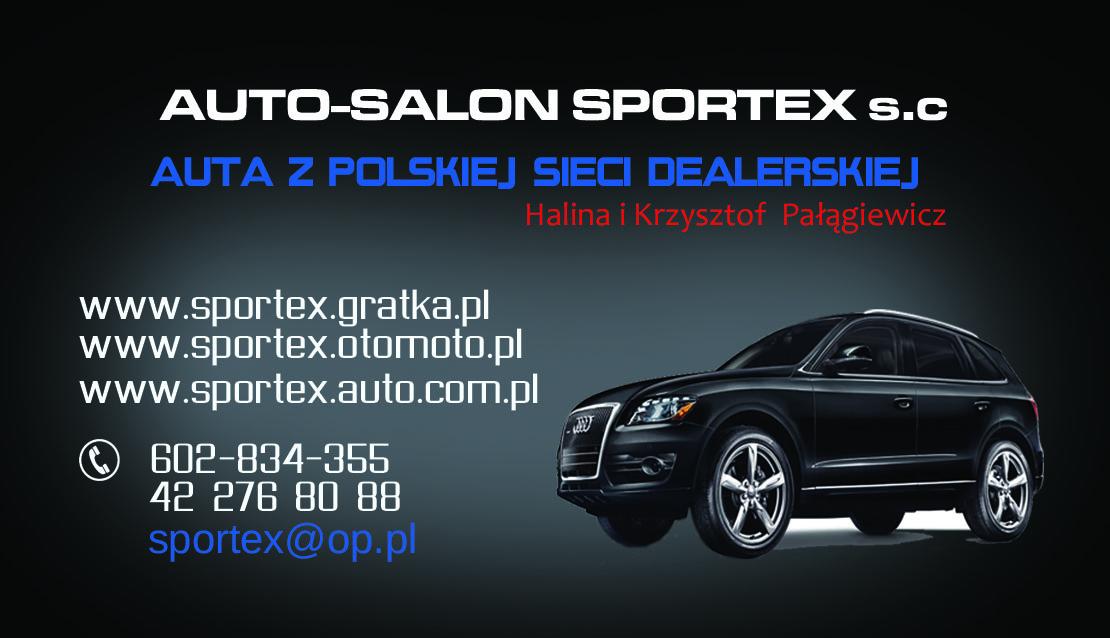 """Logo Autokomis ,,Sportex"""" s.c Halina i Krzysztof Pałągiewicz - AUTA Z POLSKIEJ SIECI"""