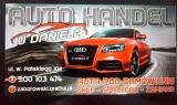 """Logo AUTO-HANDEL U DANIELA """"F.H.U DANIEL ZABOROWSKI""""83-400 KOŚCIERZYNA W.POLSKIEGO 10"""