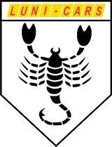 """Logo """" LUNI - CARS """"   SALON  SAMOCHODÓW  UŻYWANYCH"""